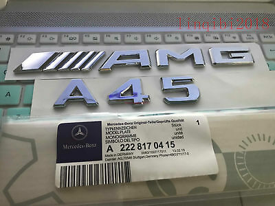 """2019 """" A45 + AMG """" High quality Rear Trunk Emblem Decal Badge FOR Mercedes Benz"""