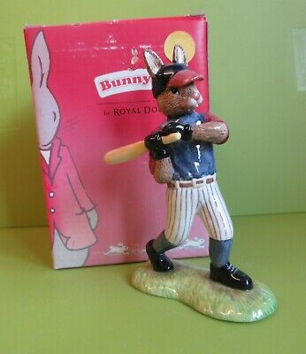 Lovely Royal Doulton Bunnykins figurine - Home Run Hero - DB 446