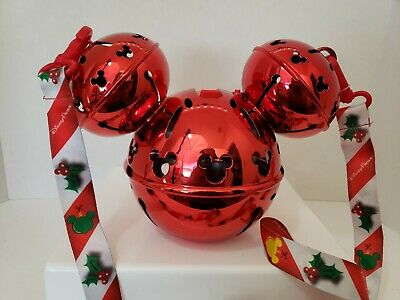Disney Parks Mickey Mouse Red Light Up Jingle Bell Christmas Sipper Cup 2019 New