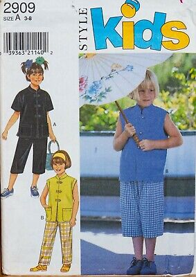 Style Kids Sewing Pattern Tops & Trousers Boys Girls Age 3-8 Years UNCUT 2909