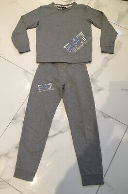 Girls Emporio Armani Grey Tracksuit Age 10 8-9 Years