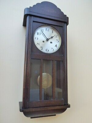 Antique striking pendulum wall clock - full working order