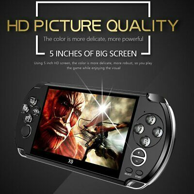 Portable Handheld X9 Video Game Console Built In Classic Games Kids Player Gift