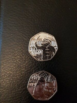2018 Paddington Bear At The Station And Palace Uncirculated 50P Coin. Free Post