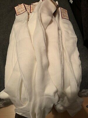 Bundle 20 Pairs Over the Knee White Socks Size 121/2 - 3 1/2