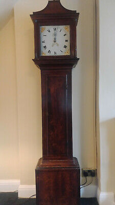 Antique Flame Mahogany Style Grandfather Longcase Clock