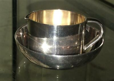 Enchanting Vintage WMF Miniature Silver Plated Cream Jug and Bowl C 1935+