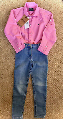 Girls Outfit / Bundle. Mayoral Pink Shirt And Tu Jeans Age 6. Exc Condition bnwt