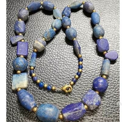 Wonderful Necklace With Roman Ancient Lapis lazuli Stone Beads    # 46