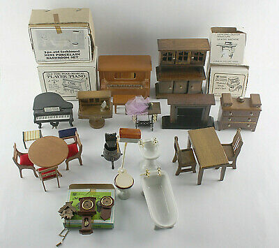 DOLL HOUSE MINIATURE FURNITURE Chadwick Vintage Lot 1:12 Scale