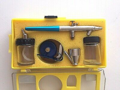 KINGER Airbrush Spray Gun 150 with accessories and box - used