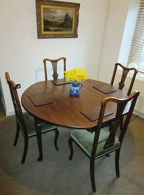 Georgian Mahogany Gate Leg Drop Leaf Dining Table, Seats Up To 6 People