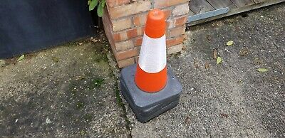 "PACK OF 4 Road Traffic cones 18"" (500mm) Self weighted Safety Heavy Duty !!"