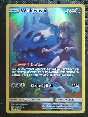 Wishiwashi  #240 Secret Rare Authentic Mint Pokemon Card Cosmic Eclipse