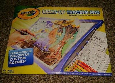 New Crayola Light-Up Tracing Pad Blue LED.  Several available! Free US Shipping!