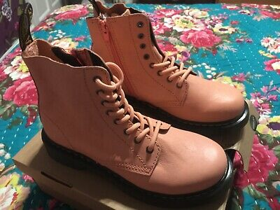 Girls Dr Marten Boots -Salmon Pink -Size 2