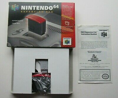 Nintendo 64 N64 OEM Authentic Expansion Pack Ram Complete In Box CIB Official #1
