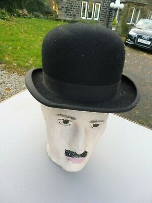 Vintage bowler hat by Scott & Co, Piccadilly generous size