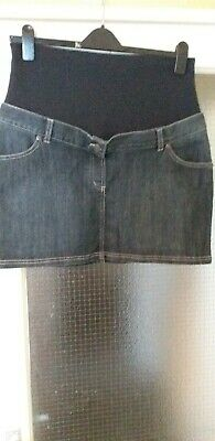 Jojo maman bebe maternity Denim Skirt size 12  blue light indigo nwt