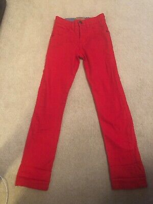 BNWOT Gorgeous Girls Red Next Skinny Jeans Trousers Age 10