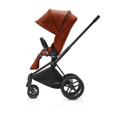 Cybex Priam Chassis with Autumn Gold Lux seat bundle