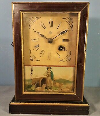 Antique German Mantel Clock by Union Clock Co. Furtwangen 1890s