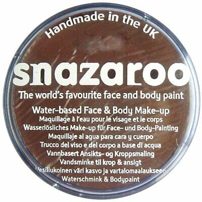 Snazaroo 75 ml Pot Body and Face Paint Dark Brown