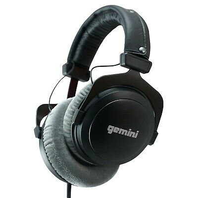Gemini - DJX-1000 - Professional DJ Studio Reference Headphones - Black