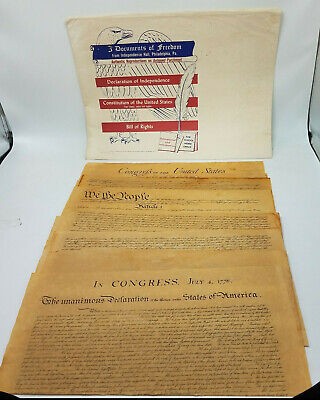 Documents Freedom: Declaration Of Independence Bill Of Rights Constitution 1956