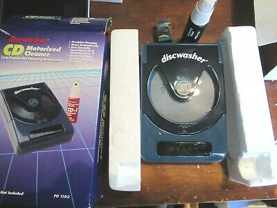 Vintage Discwasher CD Compact Disc Cleaner Restoration Kit MOTORIZED BATTERY