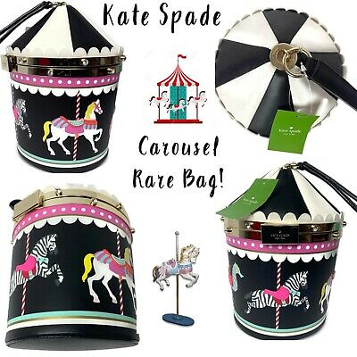 Rare Kate Spade Flavor Of The Month Carousel Novelty Bag NEW NWT Carnival Nights