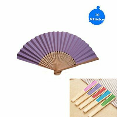 Dproptel Hand Fan Pocket Paper Fan 10 Compartments with Gift Bags Wedding Party