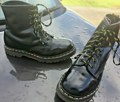 Dr Martens 1460 black leather boots UK 8 EU 42 Made in England