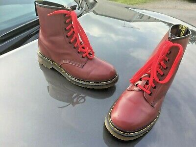 Dr Martens 1460 cherry red leather boots UK 8 EU 42 Made in England
