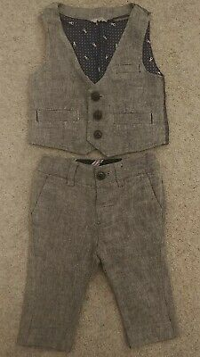 Baby Boys Age 3-6 Months Next Smart Tweed Waistcoat And Trousers