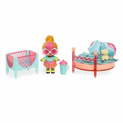 Lol Surprise Furniture Spaces Bedroom Playset With Neon Q.t Doll
