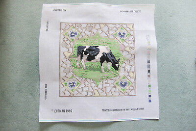 Kaffe Fassett  Pansy The Cow, Ehram Needlepoint CANVAS. Vintage, VGC