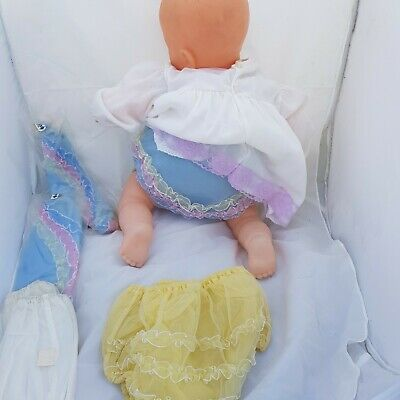 *RARE*Vintage Frilly Bottom Plastic Baby Pants Nappy Rubbers