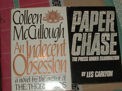 Bulk lot BOOKS.. Colleen McCullough - An Indecent obession. and more.