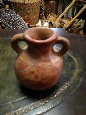 Pre Columbian Pottery Clay Two Handle Vase Awesome!