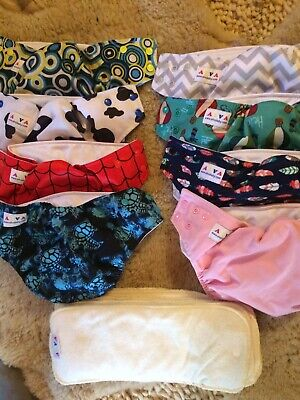 Cloth Diaper Covers And Inserts Alvababy  Set Of 8