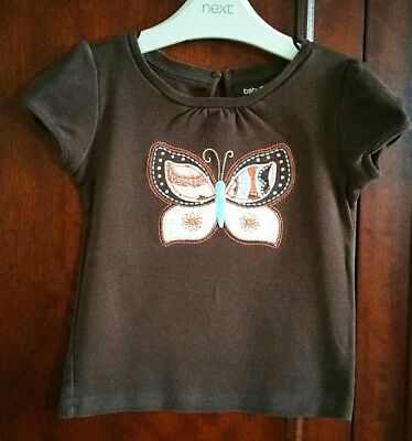Gap Baby Girls top tee shirt ditzy butterfly blue brown cute Age 3 years 🦄