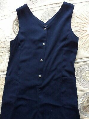 BNWT Next Girls Age 13 Years Navy Jumpsuit Short Cullottes Wide Leg Poppers £24