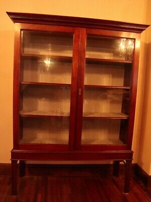 Antique Mahogany Glazed Bookcase/Display Cabinet.
