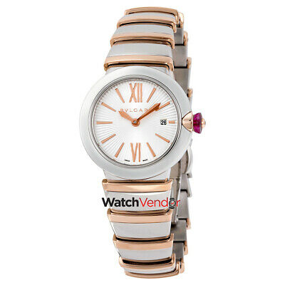 Bvlgari LVCEA 18kt Pink Gold and Stainless Steel Ladies Watch 102193