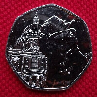 UNCIRCULATED  PADDINGTON BEAR - ST. PAULS CATHEDRAL  50p Fifty Pence Coin 2019