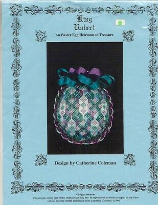 King Robert Needlepoint Easter Egg Pattern - Catherine Coleman