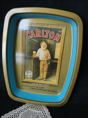 1960'S Vintage Carlton Cub Beer Drinks Tray – Tin Collectable- Vgc