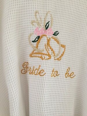 Bride to Be - Hen Party dressing gown - White waffle cotton One Size