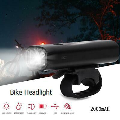 Light Head Tail Lights LED Lamp White Beam Safety Alarm Set Bicycle-Cycle-Bike